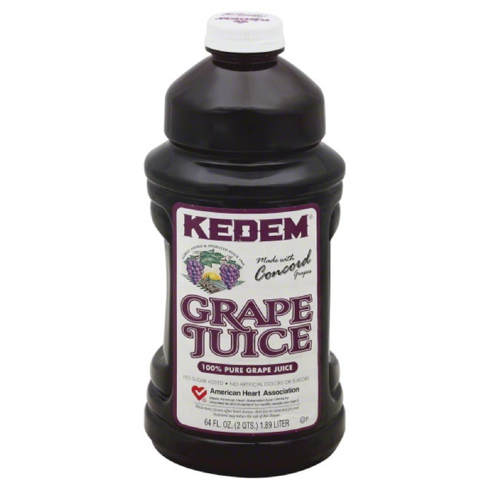 Kedem Pure Grape 100% Juice, 64 Fo (Pack of 8)