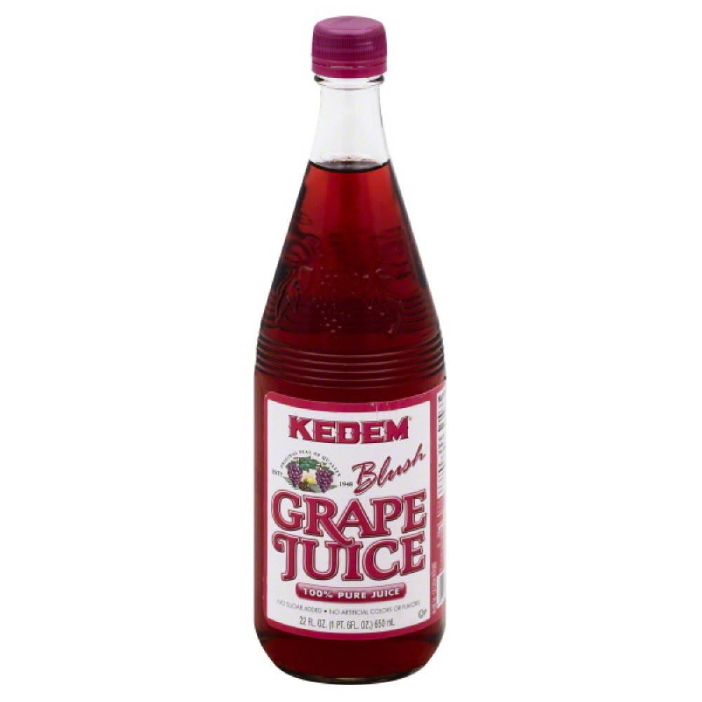 Kedem Blush Grape Juice Pure 100% Juice, 22 Fo (Pack of 6)