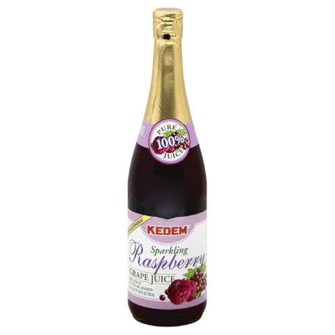 Kedem Raspberry Grape Sparkling 100% Juice, 25.4 Fo (Pack of 6)