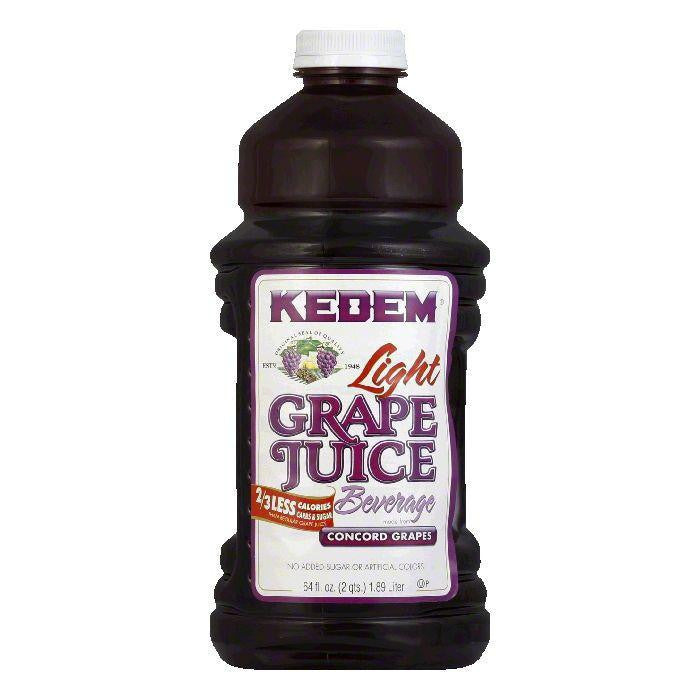 Kedem Juice Light Concord Grape, 64 OZ (Pack of 8)