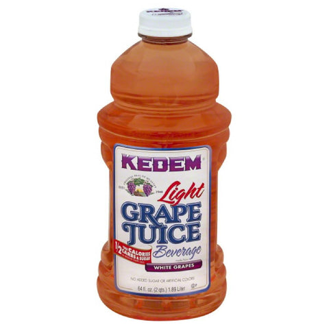 Kedem Light Grape Juice Beverage, 64 Oz (Pack of 8)