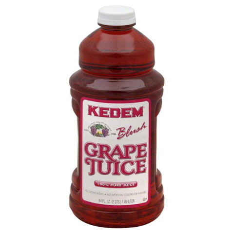 Kedem Blush Grape Pure 100% Juice, 64 Oz (Pack of 8)