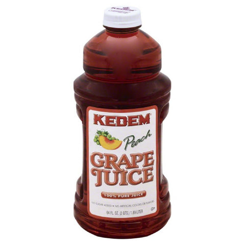 Kedem Grape Peach Pure 100% Juice, 64 Oz (Pack of 8)