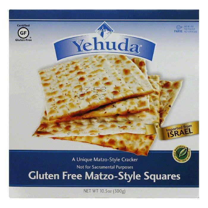 Yehuda Gluten Free Square Matzo-Style Cracker, 10.5 Oz (Pack of 12)
