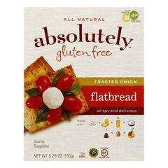 Absolutely Gluten Free Toasted Onion Crackers, 5.29 OZ (Pack of 12)