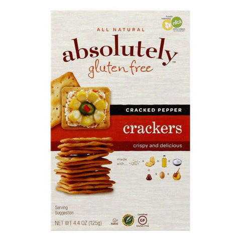 Absolutely Gluten Free Cracked Pepper Crackers, 4.4 OZ (Pack of 12)
