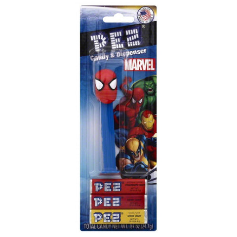 PEZ Marvel Candy & Dispenser, 1.74 Oz (Pack of 6)