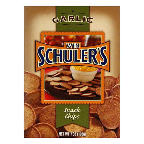Win Schuler Garlic Bar-Schips, 7 OZ (Pack of 12)