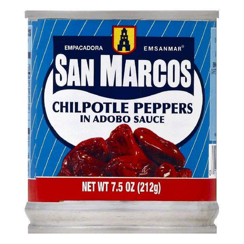 San Marcos in Adobo Sauce Chipotle Peppers, 7.5 OZ (Pack of 24)