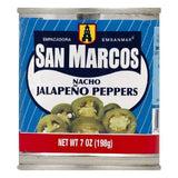 San Marcos Nacho Japapeno Peppers, 7 OZ (Pack of 12)