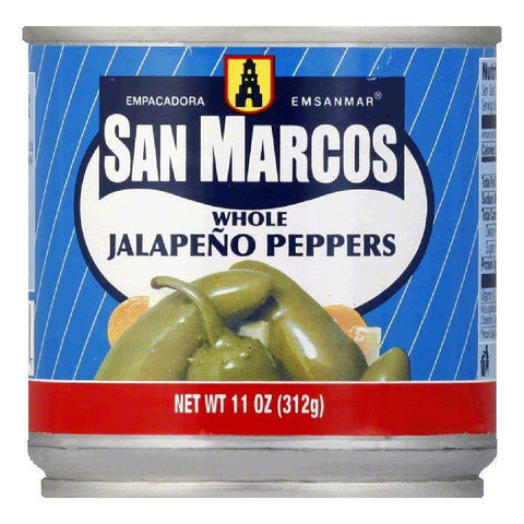 San Marcos Whole Jalapeno Tin, 11 OZ (Pack of 12)