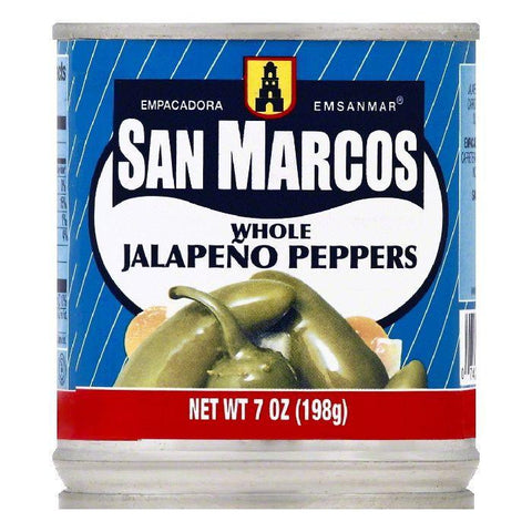 San Marcos Whole Jalapeno Peppers, 7 OZ (Pack of 24)