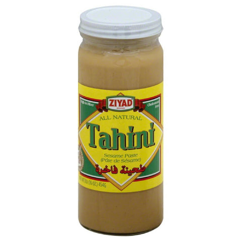 Ziyad Sesame Paste Tahini, 16 Oz (Pack of 6)