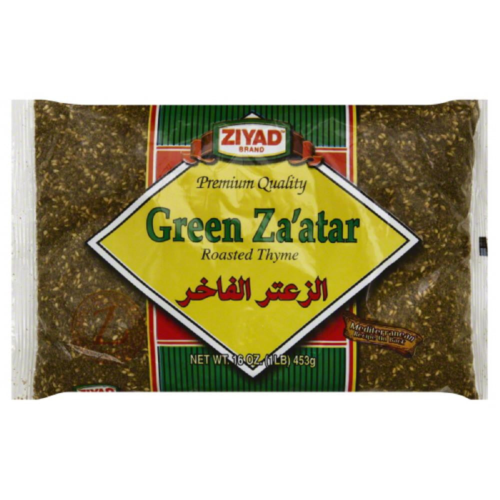 Ziyad Roasted Thyme Green Za'atar, 16 Oz (Pack of 6)