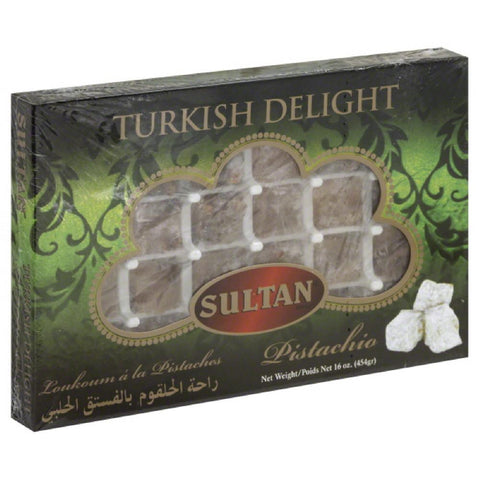 Sultan Pistachio Turkish Delight, 16 Oz (Pack of 6)