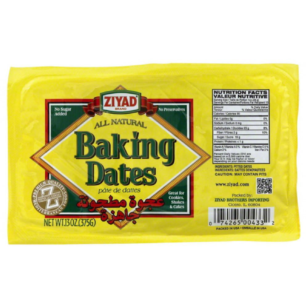 Ziyad Baking Dates, 13 Oz (Pack of 6)