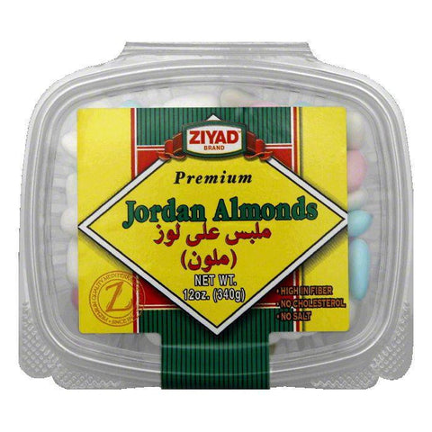 Ziyad Jordan Almonds Premium Assorted, 12 OZ (Pack of 6)