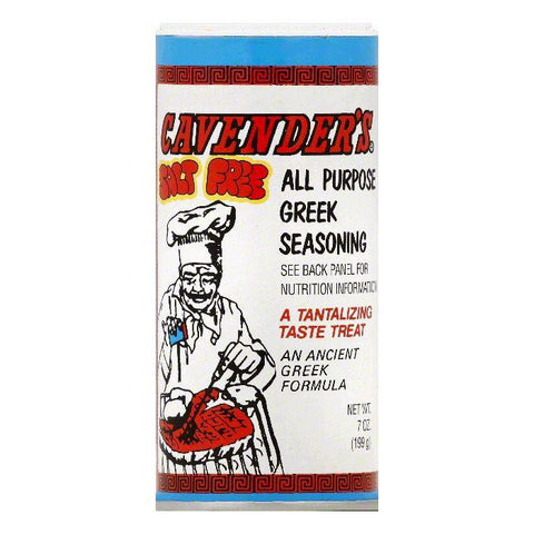 Cavenders Salt Free All Purpose Greek Seasoning, 7 OZ (Pack of 6)