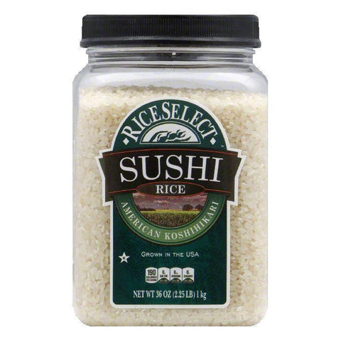 Rice Select Sushi Rice Jar, 32 OZ (Pack of 4)