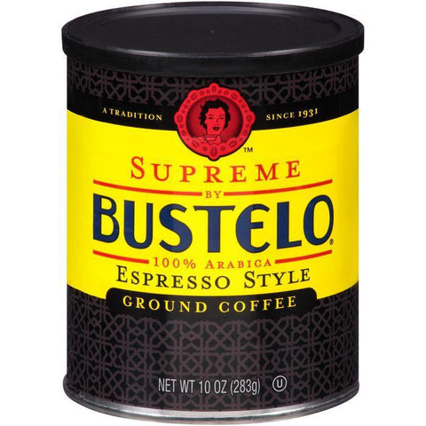 Supreme by Bustelo Espresso Style Ground Coffee 10 Oz (Pack of 12)
