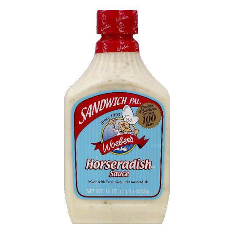 Woebers Horseradish Sauce, 16 OZ (Pack of 6)