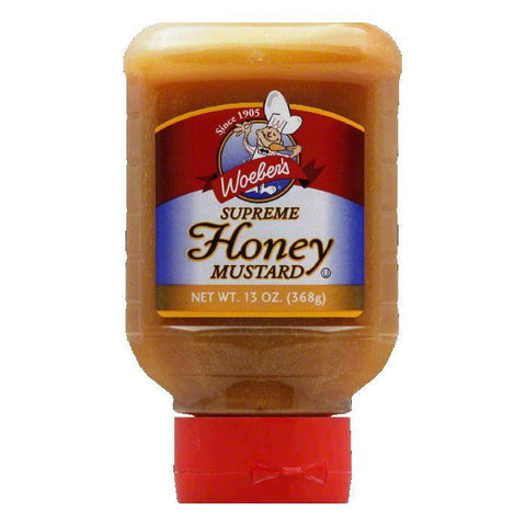Woeber Supreme Honey Mustard, 13 OZ (Pack of 6)