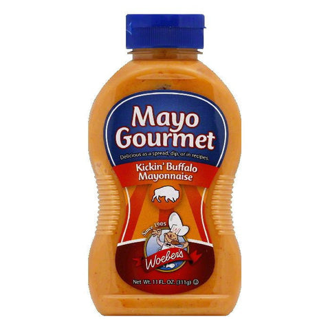 Woeber Mayo Goumet Kickin Buffalo, 11 OZ (Pack of 6)