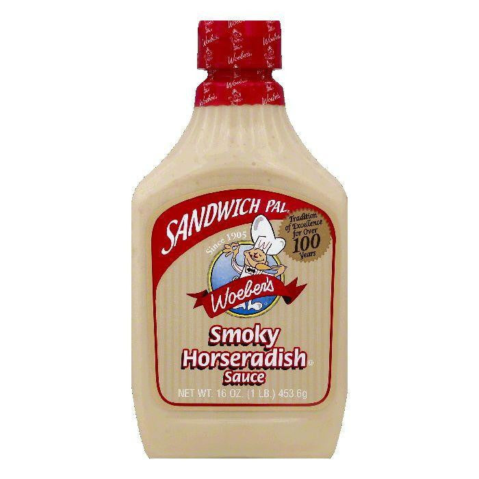 Woebers Smoky Horseradish Sauce, 16 OZ (Pack of 6)