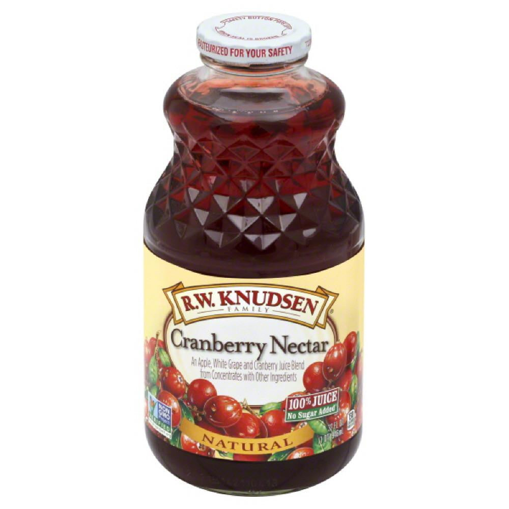 RW Knudsen Cranberry Nectar 100% Juice, 32 Fo (Pack of 6)