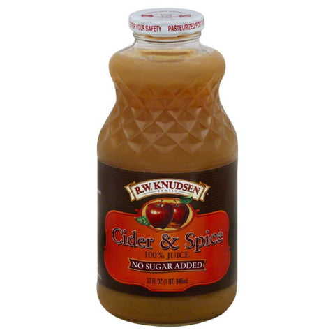 RW Knudsen Cider & Spice 100% Juice, 32 Fo (Pack of 6)