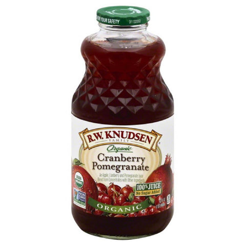 RW Knudsen Cranberry Pomegranate Organic 100% Juice, 32 Fo (Pack of 6)