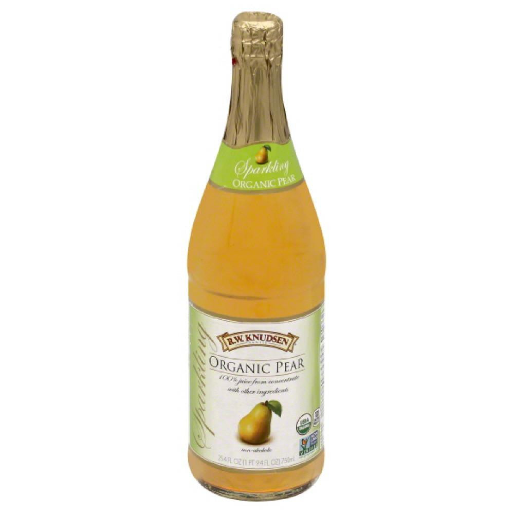 RW Knudsen Pear Organic Sparkling 100% Juice, 25.4 Fo (Pack of 12)