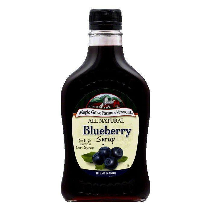 Maple Grove Farms Syrup Natural Blueberry, 8.5 OZ (Pack of 6)