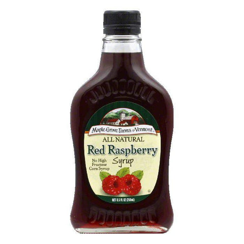 Maple Grove Farms Syrup Natural Raspberry, 8.5 OZ (Pack of 6)