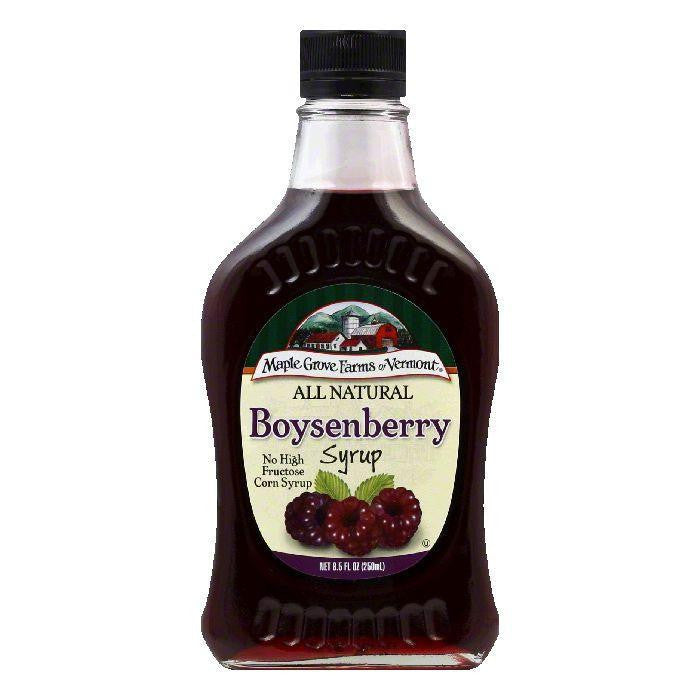 Maple Grove Farms Syrup Natural Boysenberry, 8.5 OZ (Pack of 6)