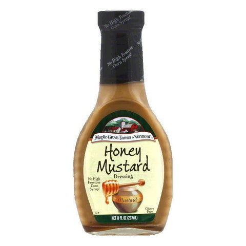 Maple Grove Farms Dressing Honey Mustard, 8 OZ (Pack of 6)