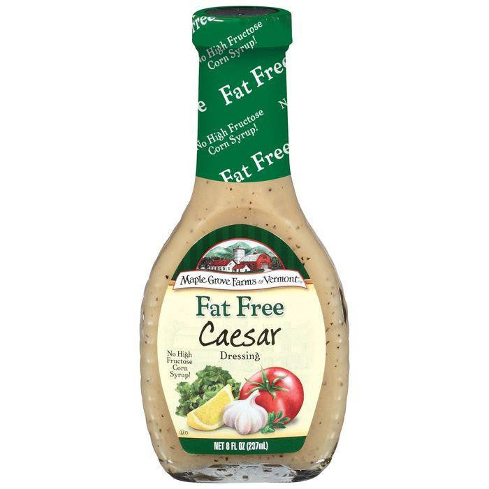 Maple Grove Farms Fat Free Caesar Dressing 8 Oz   (Pack of 6)