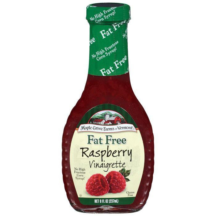 Maple Grove Farms Fat Free Raspberry Vinaigrette Dressing 8 Oz  (Pack of 6)