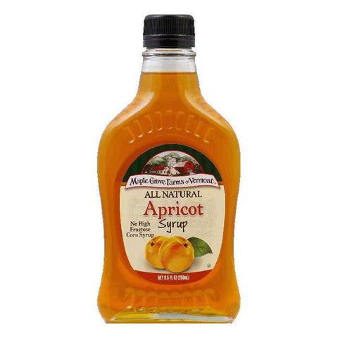 Maple Grove Farms Syrup Natural Apricot, 8.5 OZ (Pack of 6)