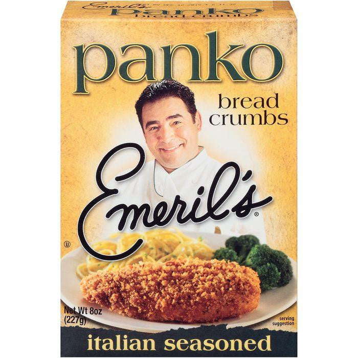 Emeril's Italian Seasoned Panko Bread Crumbs 8 Oz (Pack of 6)