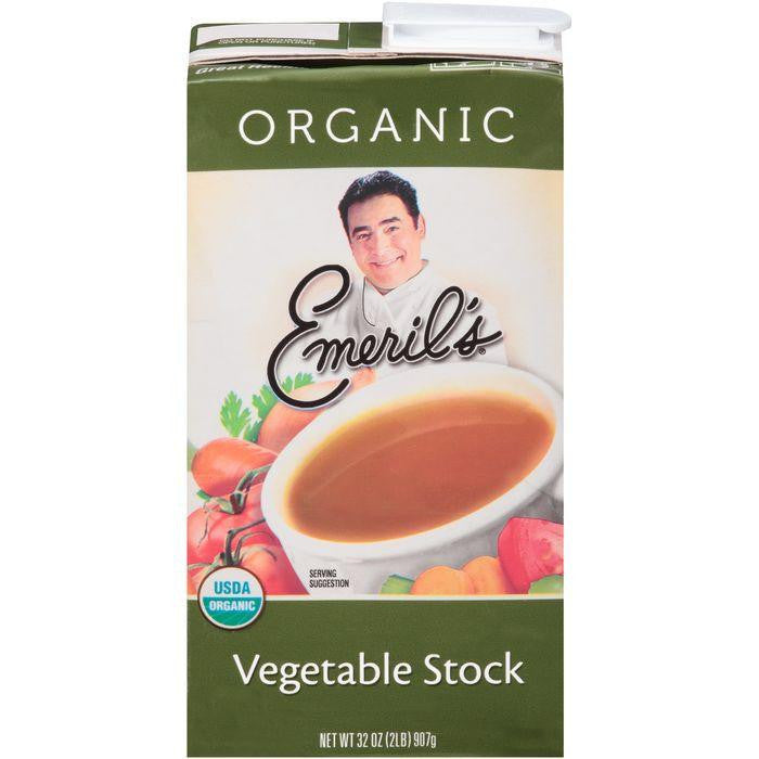 Emeril's Vegetable Stock 32 Oz Aseptic Pack (Pack of 6)