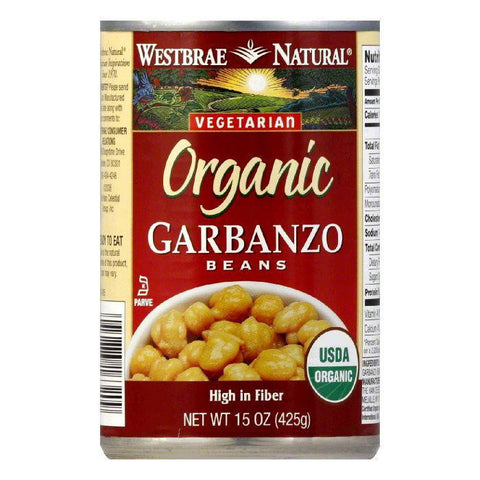 Westbrae Beans Garbanzo Low Fat Organic, 15 OZ (Pack of 12)