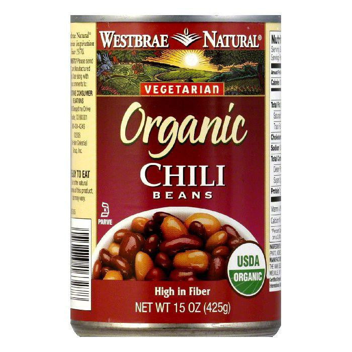 Westbrae Beans Chili Fat Free Organic, 15 OZ (Pack of 12)