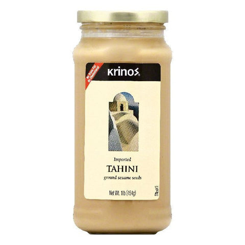 Krinos Tahini, 16 OZ (Pack of 6)
