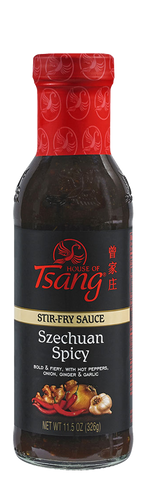 House of Tsang SZECHUAN SPICY Stir Fry Sauce, 11.5 OZ (Pack of 6)