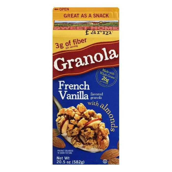 Sweet Home Farm French Vanilla Flavored Granola with Almonds, 20.5 OZ (Pack of 8)