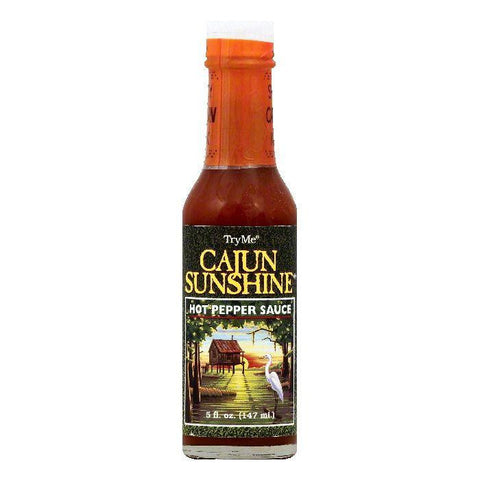 Try Me Cajun Sunshine Hot Pepper Sauce, 5 OZ (Pack of 6)