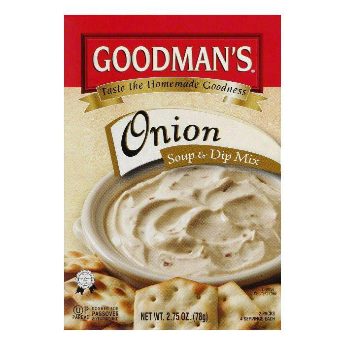 Goodman's Onion Dip & Soup Mix, 2.75 OZ (Pack of 24)