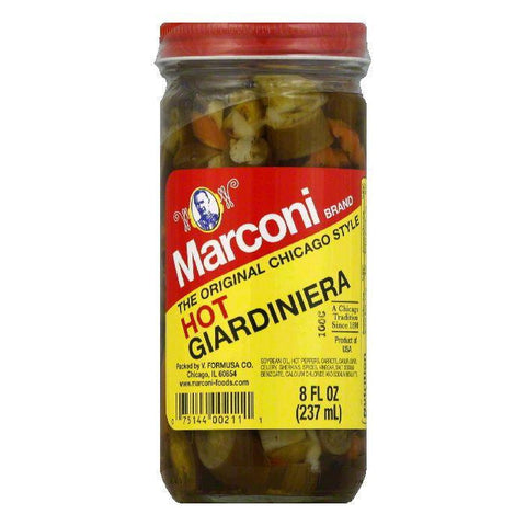 Marconi Giardinara Relish in Oil Hot, 8 OZ (Pack of 12)