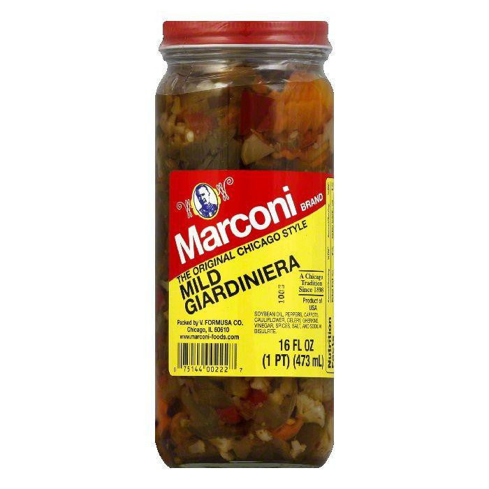 Marconi Giardinara Relish in Oil Mild, 16 OZ (Pack of 12)